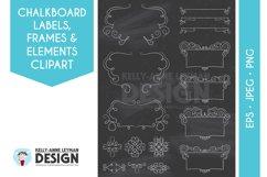 Chalkboard Digital Frame Clipart, Digital Label clipart set Product Image 2