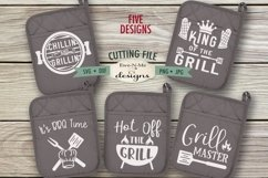 Grilling BBQ Themed Pot Holder Bundle - Fathers Day SVG Product Image 1