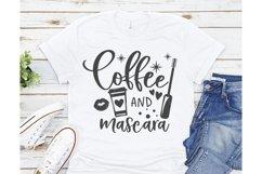 Coffee and mascara SVG, Coffee SVG, Makeup Svg, Mom Svg Product Image 2