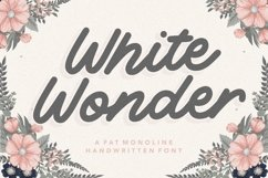 White Wonder Fat Monoline Handwritten Font Product Image 1
