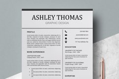 Resume | CV Template Cover Letter - Ashley Thomas Product Image 6