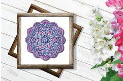 Mandala SVG 3d Layered | Multi Layer SVG | Floral Cut File Product Image 3