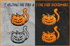 Halloween SVG, Cat Pumpkin SVG, Jack O'Lantern Cat face Product Image 2