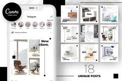 Interior Designer Instagram Posts Template | CANVA Product Image 1