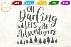 Oh Darling Let's Love Couple Anniversary Quote Art Product Image 1