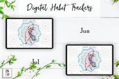Digital Habit Trackers Y4 Yoga Series for Planner PRINTABLE Product Image 5