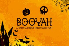 Booyah - A Hand-Lettered Halloween Font Product Image 1