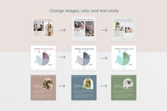 "Canva Instagram Templates ""NUDE"". Social Media Bundle Product Image 4"