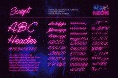 Night Light Neon Font - Script Product Image 2