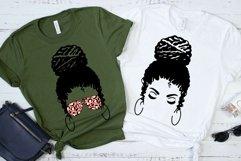 Messy Bun Mom SVG Mom Life Messy Bun Afro Women SVG Cut File Product Image 4