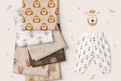 Animal and Rainbow Seamless Patterns, Nursery Digital Paper Product Image 4