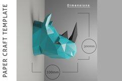 Rhino Papercraft/Paper craft/3D Papercraft/3D rhinoceros/PDF Product Image 3