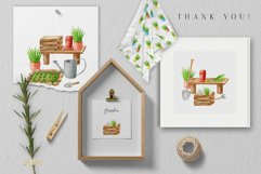 Gardening Watercolor Clipart. Spring Garden Tools PNG Set Product Image 6