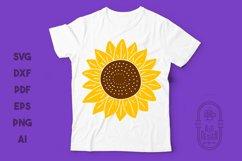 Sunflower SVG & Sunflower Monogram Frame SVG Cut Files Product Image 2