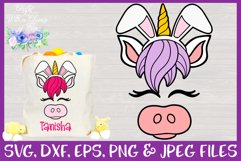 Easter | Unicorn Face SVG Cut File Product Image 1