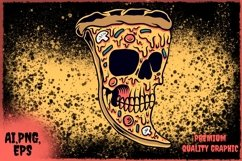 pizza skull vector Product Image 3