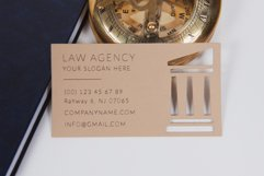 Law agency business card template cutting file Product Image 2
