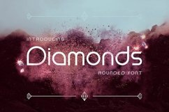 Diamonds Rounded Font Product Image 1