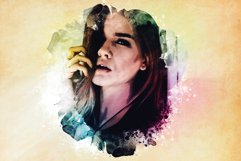 Watercolor Photoshop PSD Template Product Image 5
