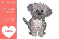 Cute little Havaneser Dog - Embroidery File Product Image 2