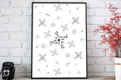 Floral Doodle Ink Pattern, A1, SVG Product Image 3