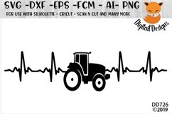 Tractor Heartbeat EKG SVG Product Image 1