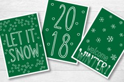 SNOWLAND - hand drawn winter font Product Image 5
