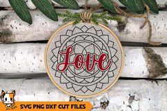 Mandala Christmas Ornament SVG | Love Product Image 1