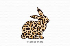Easter cheetah print Bunny svg, Easter svg, Rabbit svg Product Image 1