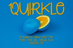 Quirkle - A Hand-Written Quirky Font Product Image 1
