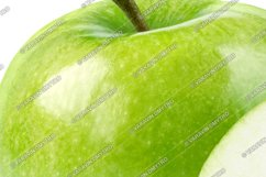 Perfect Green Apple Isolated on White Product Image 3