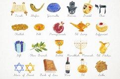 Watercolor Hanukkah Clipart, Chanukkah Clipart Product Image 2