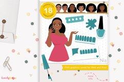 Nail wrap girl, nail art woman, nail strips - LVY23 Nia Product Image 1