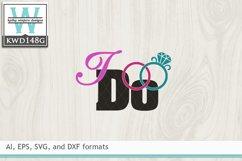 Wedding SVG - I Do Product Image 2