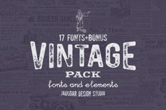 Vintage Pack-17 fonts and elements Product Image 4