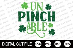 St Patricks Day Svg, Un Pinch Able, Lucky Svg, Clover Dxf Product Image 2