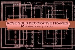 Rose Gold Decorative Frames Clipart Product Image 1