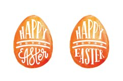 Happy Easter. Vector elements and watercolor textures. Product Image 2