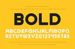 Modern bold english alphabet Product Image 1