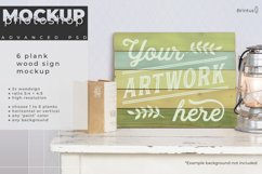 Wood sign mockup with 1 to 6 planks Product Image 7