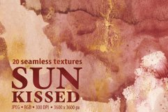 20 Seamless Watercolor Textures - Burnt Orange Backgrounds Product Image 1