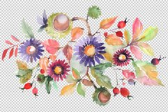Autumn bouquet blossoming beauty Watercolor png Product Image 2