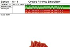 Rose with Stem Machine Embroidery Design Set of 4 Sizes Product Image 3