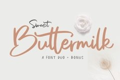 Sweet Buttermilk - Font Duo with Bonus Product Image 1