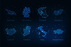 Europe countries futuristic maps. Product Image 3