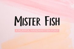 Mister fish- a playful fun font Product Image 1