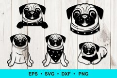 Funny Pug Clip Art Product Image 1