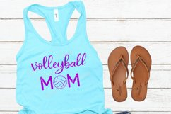 Volleyball mom SVG - Sports mom SVG file, handlettered Product Image 3