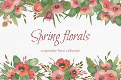 Spring florals. Watercolor floral collection. Product Image 1