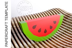 PDF Template Of 3D Watermelon Papercraft lowpoly SVG DXF Product Image 2